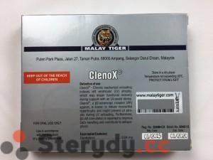 tył opakowanai CLENOX