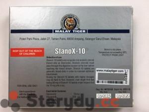 tył opakowania STANOX-10